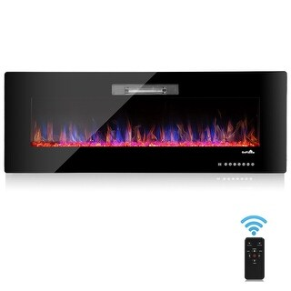 """50"""" Recessed Electric Fireplace, In-wall& Wall Mounted & standing Electric Heater, Remote Control,Touch screen"""