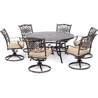 Link to Hanover Traditions Tan 7-piece Outdoor Dining Set Similar Items in Patio Furniture