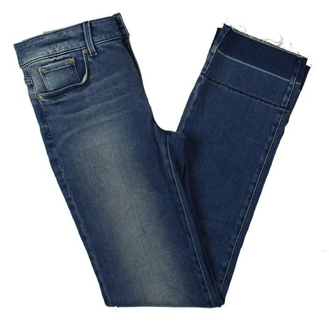 NYDJ Womens Marilyn Straight Leg Jeans Denim Slimming Fit