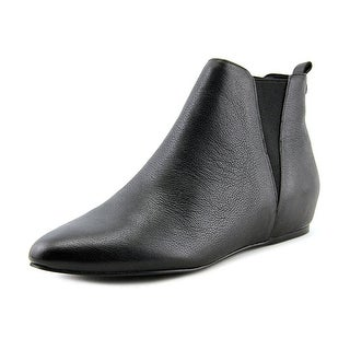 Calvin Klein Magica   Round Toe Leather  Ankle Boot