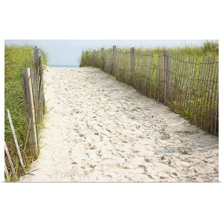 """""""Footprints in sand of beach access path"""" Poster Print"""