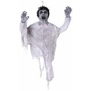 "Hanging Levitator Zombie Halloween 40"" Prop w/Light Up Eyes & Sound"
