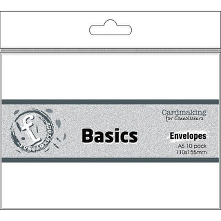 Fundamentals Cardmaking A6 Envelopes 10/Pkg-White