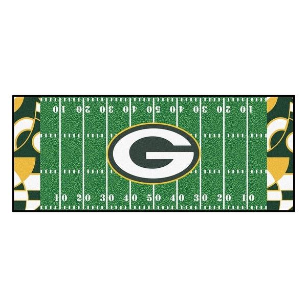 9bb450c5 Shop NFL Green Bay Packers Football Field Runner Mat Area Rug - Free ...