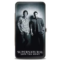 Supernatural Winchester Brothers Black White Hinged Wallet - One Size Fits most