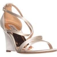 cff0c33d898554 Shop Badgley Mischka Barbara Wedge Evening Sandals