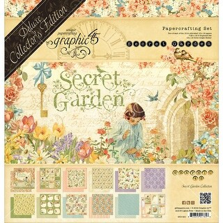 """Graphic 45 Deluxe Collector's Edition Pack 12""""X12""""-Secret Garden"""