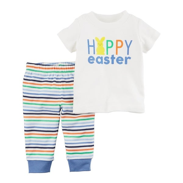 69255f2f5c414 Carter's Baby Boys' 2 Piece Easter Tee and Pants Set, Newborn