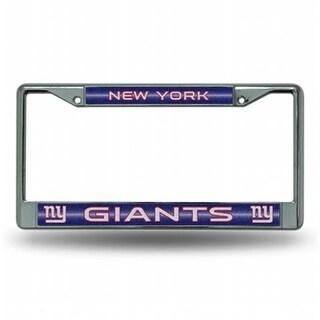 RIC- New York Giants NFL Bling Glitter Chrome License Plate Frame