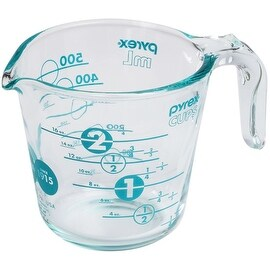 Pyrex 1119211 100th Anniversary Measuring Cup, 2 Cup, Turquoise