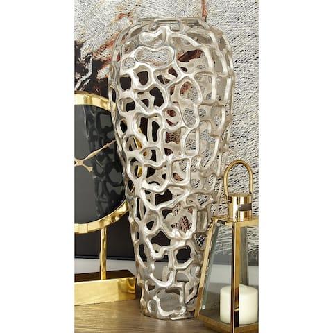 Silver Orchid Olivia Alluring Aluminum Decorative Vase