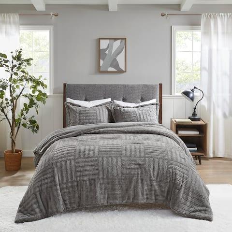 Madison Park Polar Fur Down Alternative Comforter Mini Set