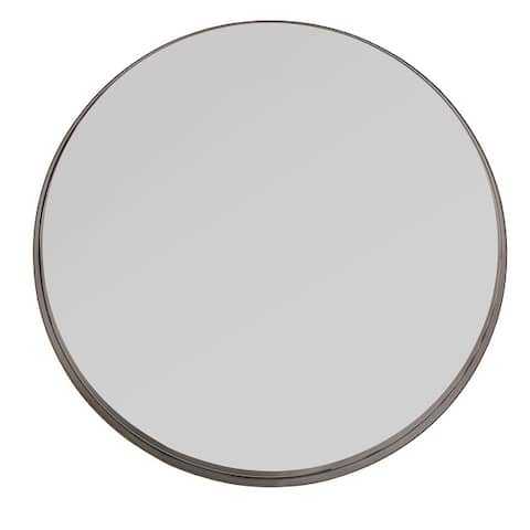 Avery Frame Ledge Round Wall Mirror by iNSPIRE Q Bold