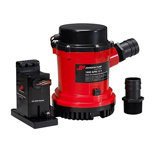Hd Bilge Pump 1600 Gph W/Ult. Switch 24V