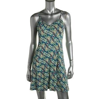 Jessica Simpson Womens Juniors Casual Dress Floral Print Sleeveless - M