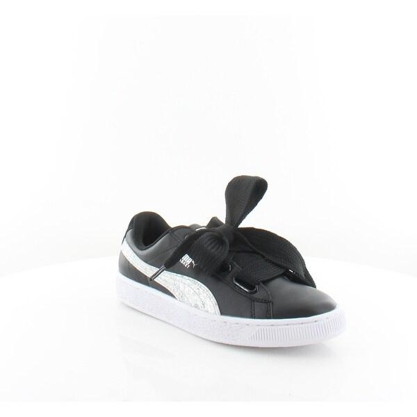 on sale 7bec9 7d028 Shop Puma Basket Heart Women's Fashion Sneakers Puma Black ...