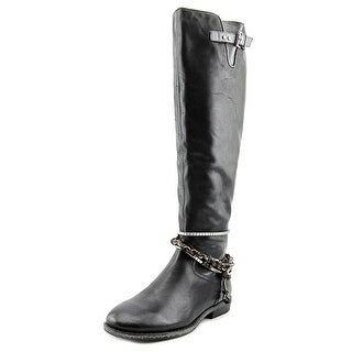 OTBT Trout Creek Women Round Toe Leather Black Knee High Boot