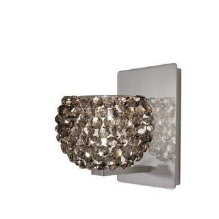 WAC Lighting WS58-G542 Gia Crystal Bead Shade Halogen Wall Sconce with Industrial Uplight Accent