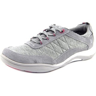 Grasshoppers Explore Lace Women N/S Round Toe Suede Gray Walking Shoe
