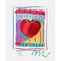 "Heart Series II, Ltd Ed Lithograph (Mini 5"" x 4""), Peter Max"