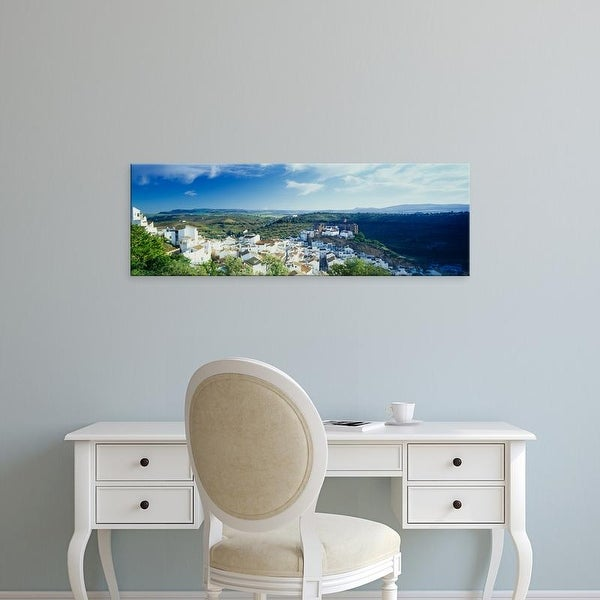 Easy Art Prints Panoramic Image 'High angle view of buildings in a town, Pueblo Blanco, Andalusia, Spain' Canvas Art