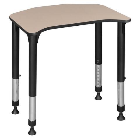 """Ferris 26"""" x 24"""" Height Adjustable Student Desk- Beige"""