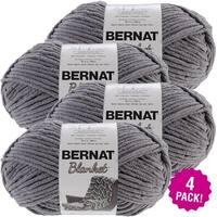 Bernat Blanket Big Ball Yarn 4/Pk-Dark Grey