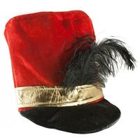 Adult Toy Soldier Hat Costume Accessory - Red