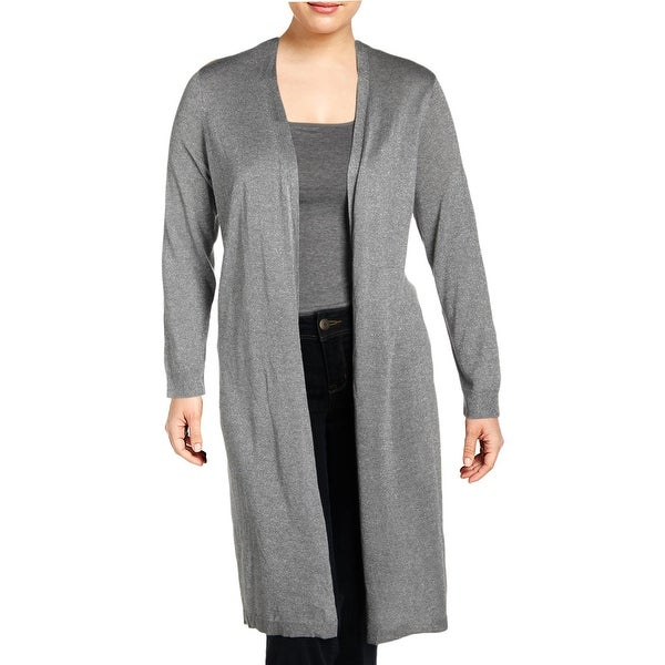 Vince Camuto Womens Plus Cardigan Sweater Metallic Open Front - 2X