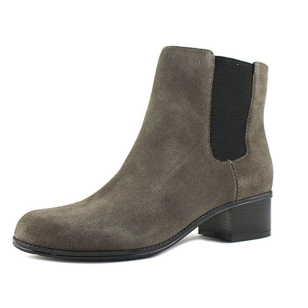 Bandolino Closter Women Round Toe Suede Gray Ankle Boot