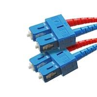 Monoprice Fiber Optic Cable, SC/SC, Single Mode, Duplex - 20 meter (9/125 Type) - Yellow