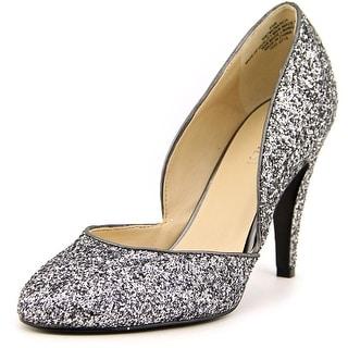 Nine West Monarch Women Round Toe Synthetic Silver Heels