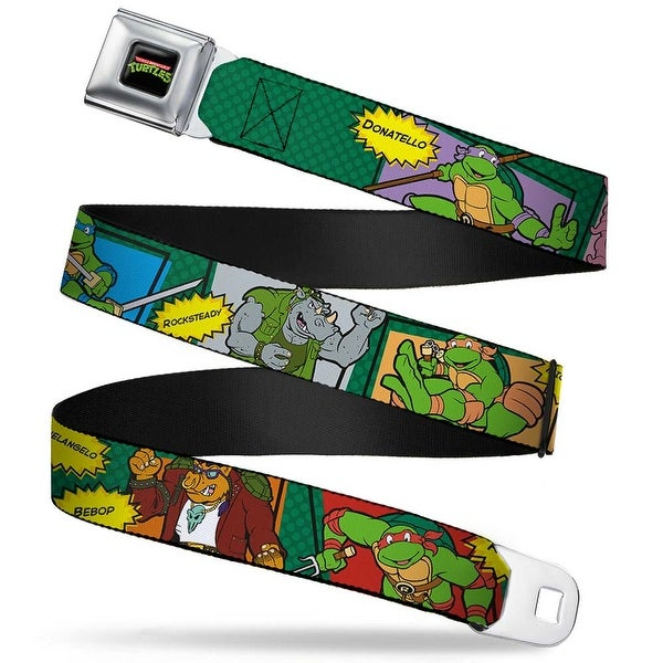Classic Tmnt Logo Full Color Classic Teenage Mutant Ninja Turtles Character Seatbelt Belt
