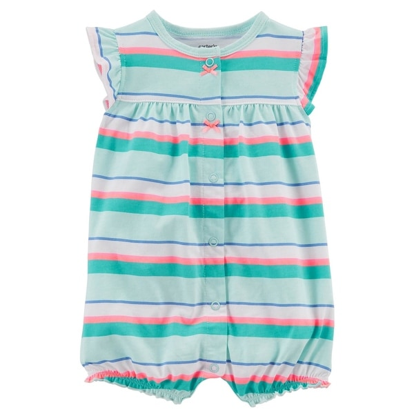517817fc0 Shop Carter s Baby Girls  Crab Snap-Up Cotton Romper