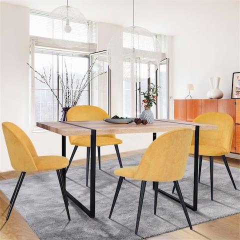 FurnitureR Mid-century Modern 5-piece Dining Set