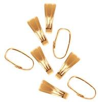 22K Gold Plated Snap Bail For Jewelry Small 6mm (50 Pieces)