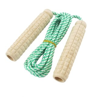 7.1 Ft Nylon String Wooden Grips Fitness Exercise Jump Rope Skipping Rope