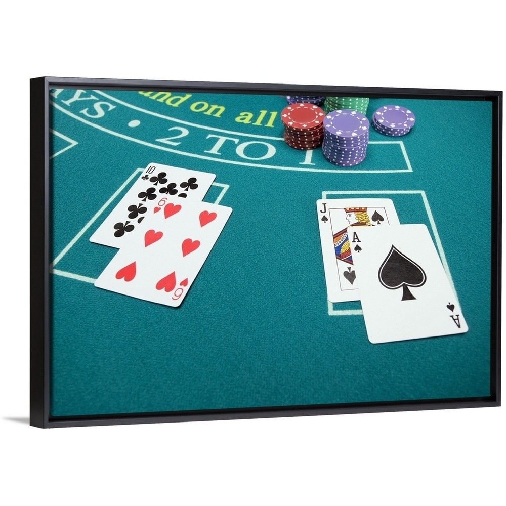 Cards And Chips On Betting Table Multi Color
