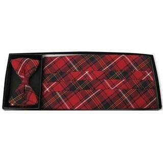 Berrington Plaid Bow Tie and Cummerbund Set