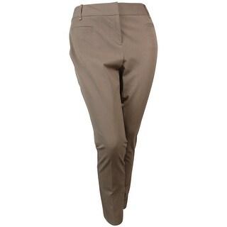 Alfani Women's Modern Contrast Tummy Control Dress Pants