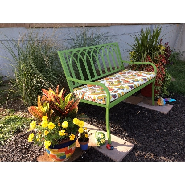 Blazing Needles 45 Inch Indoor Outdoor Bench Cushion Free Shipping Today 8347228
