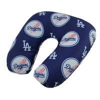 MLB Los Angeles Dodgers Beaded Travel Neck Pillow - navy