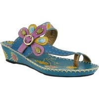 L'Artiste by Spring Step Women's Santorini Turquoise Leather