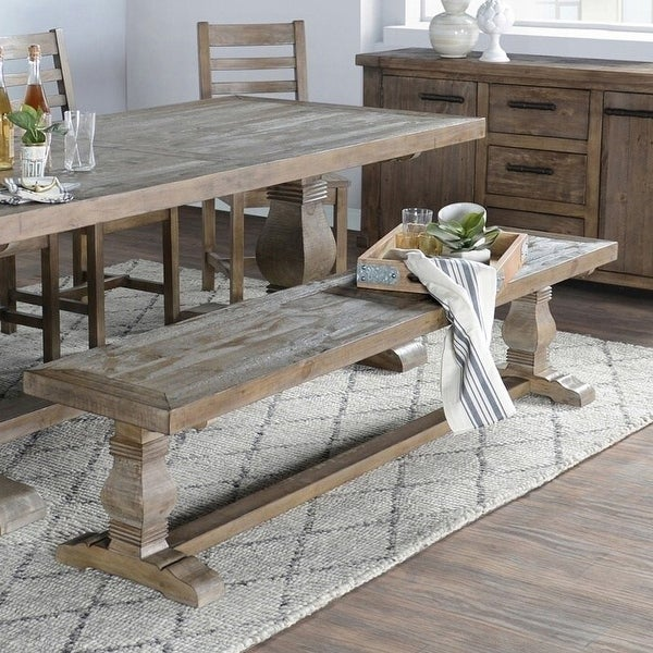 Kasey Reclaimed Wood 83-inch Bench by Kosas Home. Opens flyout.