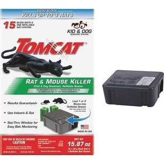 Tomcat 0370910 Rat Refillable Bait Station, 16 Oz