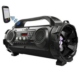Boytone BT-50BK Portable Bluetooth Speaker, Indoor/Outdoor 2.1 Hi-Fi Cylinder Loud Sound Built-in 2 x 5 Subwoofer, 2 x 2 Tweeter