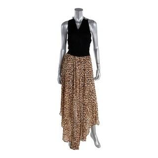 Guess Womens Maxi Dress Pointelle Hi-Low