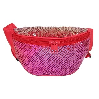 CTM® Women's Sequin Sparkling Mesh Waist Pack (2 options available)