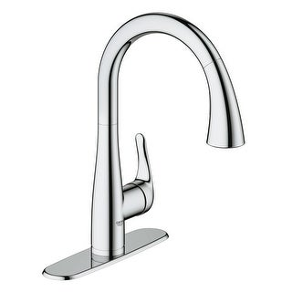 Grohe 30 211 1  Elberon Single Handle Single Hole Pull-Down Kitchen Faucet with SilkMove Cartridge & Locking Dual Spray Control