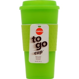 Copco Acadia Double Walled Insulation Hot or Cold Travel Mug 16 Ounce Translucent Lime